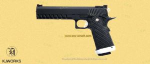 KP-06 GBB Pistol w/ Gas CO2 Magazine (Black) by KJ